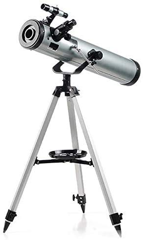 J & J 350X Zoom Outdoor Monocular Space Astronomical Telescope with Portable Tripod Outdoor Monocular Zoom, 76Mm Astronomical Refracting Telescope