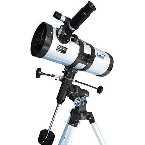 Seben 114/1000 EQ-3 Star Sheriff - reflecting telescope for astronomy incl. parallactic mount and Big Pack accessories