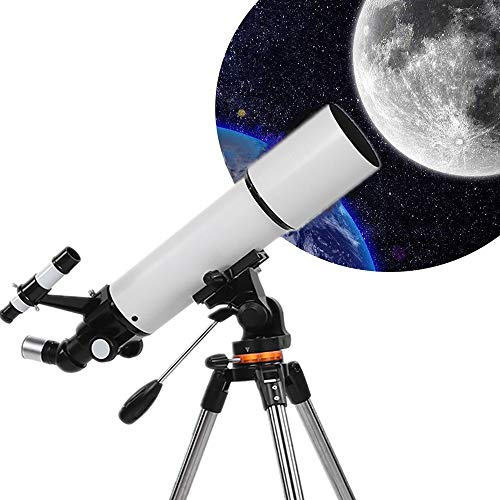 Telescope, 80mm Aperture 500mm Focal Length Astronomical Refracting Telescope for Kids Adults & Beginners, Fully Multi-Coated Optics, Adjustable Portable Travel Telescope with Tripod, Carry Bag